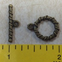 Antique Brass toggle bead biz