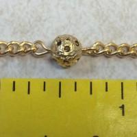 Matte gold filigree bead chain